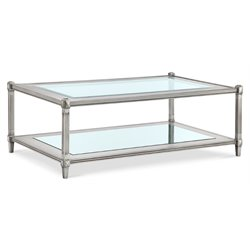 Magnussen Platinum Coffee Table in Metallic Silver