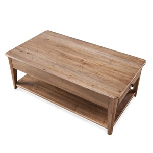 Magnussen Baytowne Lift Top Coffee Table with casters in Barley