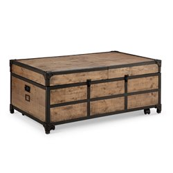 Magnussen Maguire Storage Trunk Coffee Table in Textured Natural