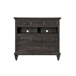 Magnussen Calistoga 3 Drawer Media Chest in Weathered Charcoal