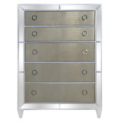 Magnussen Monroe 5 Drawer Chest in Pearlized White