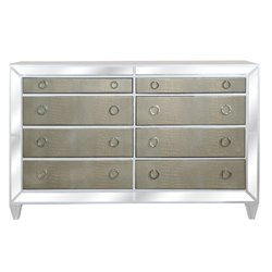 Magnussen Monroe 8 Drawer Dresser in Pearlized White