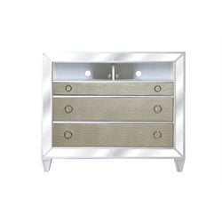 Magnussen Monroe 3 Drawer Media Chest in Pearlized White