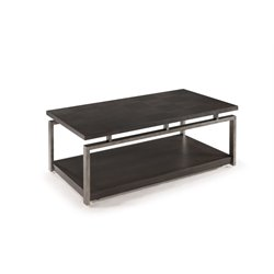 Magnussen Alton Metal Coffee Table in Platinum Charcoal and Gun Metal