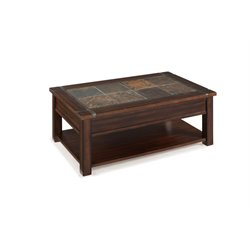 Magnussen Roanoke Wood Lift Top Coffee Table in Cherry and Slate