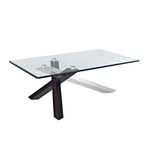 Magnussen Verge Coffee Table in Deep Espresso and Stainless Steel