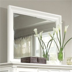 Magnussen Ashby Landscape Mirror in Patina White