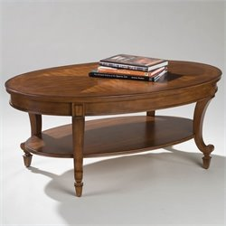 Magnussen Aidan Oval Cocktail Table in Cinnamon Brown