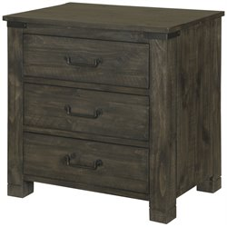 Magnussen Abington 3 Drawer Nightstand in Weathered Charcoal