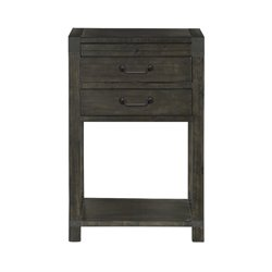 Magnussen Abington 2 Drawer Nightstand in Weathered Charcoal