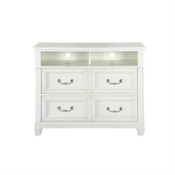 Magnussen Brookefield 2 Drawer Cotton White Media Chest