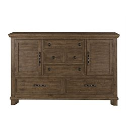 Magnussen Canyon Road 5 Drawer Dresser in Soft Caramel