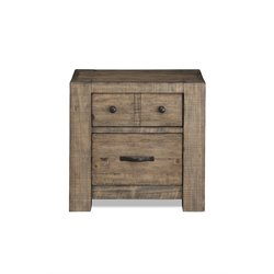 Magnussen Griffith 2 Drawer Nightstand in Weathered Toffee