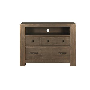 Magnussen Griffith 2 Drawer Media Chest in Weathered Toffee
