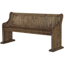 Magnussen Willoughby Wood Bench in Weathered Barley