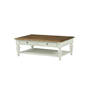Magnussen Chadsworth Coffee Table with Casters in Antique White