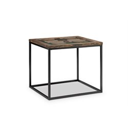 Magnussen Rochester End Table in Burnished Brown