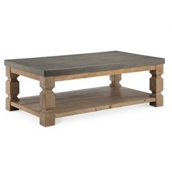 Magnussen O'Brian Coffee Table with Casters in Aged Zinc