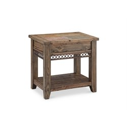 Magnussen Pierson Accent End Table in Weathered Pine