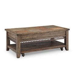 Magnussen Pierson Lift-top Coffee Table with Casters in Weathered Pine