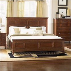 Magnussen Harrison Panel Bed With Storage in Cherry - Queen
