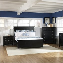 Magnussen Southampton Panel Bed in Black - California King