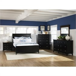 Magnussen Southampton Panel Bed With Storage in Black - Queen
