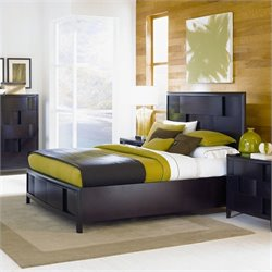 Magnussen Nova Platform Bed With Storage in Espresso - Queen