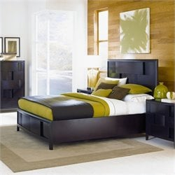 Magnussen Nova Platform Bed With Storage in Espresso - King