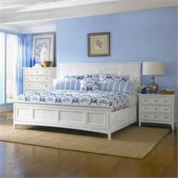 Magnussen Kentwood Panel Bed in White - California King