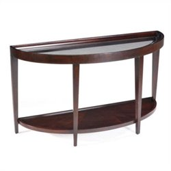 Magnussen Carson Wood Demilune Sofa Desk Table