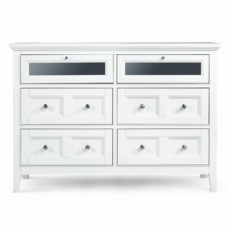 Magnussen Kentwood 6 Drawer Media Chest in Painted White Finish