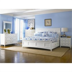 Magnussen Kentwood Storage Panel Bed 4 Piece Bedroom Set in White
