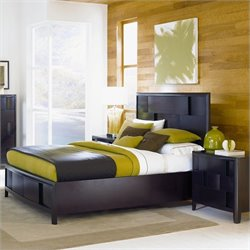 Magnussen Nova Storage Platform Bed 2 Piece Bedroom Set in Espresso
