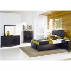 Magnussen Nova Storage Platform Bed 4 Piece Bedroom Set in Espresso