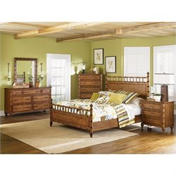 Magnussen Palm Bay Poster Bed 6 Piece Bedroom Set in Toffee Finish