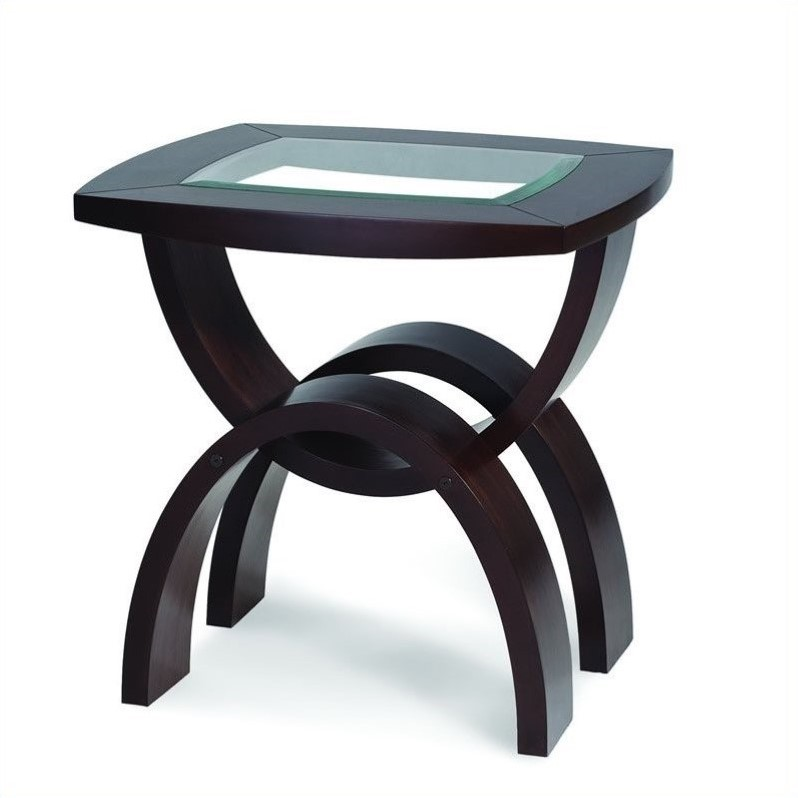 Magnussen Helix Wood Rectangular End Table