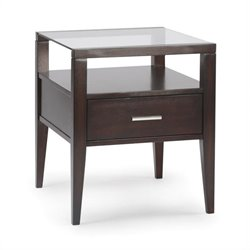 Magnussen Baker Wood Rectangular End Table