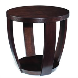 Magnussen Sotto Wood Round End Table