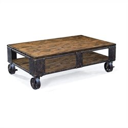 Magnussen Pinebrook Rectangular Cocktail Table in natural pine