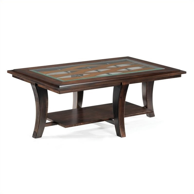 Tivoli Wood Rectangular Cocktail Table in Hazelnut Finish