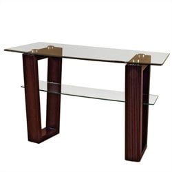 Magnussen Cordoba Rectangular Sofa Table with Glass Top