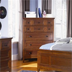 Magnussen Riley Wood 5 Drawer Chest  in Cherry Finish