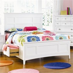 Magnussen Kenley Panel Bed with Two Storage Side Rails in White Finish - Twin