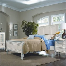 Magnussen Ashby Panel Bed in Patina White