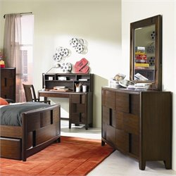 Magnussen Twilight 6 Drawer Dresser and Mirror Set in Chestnut