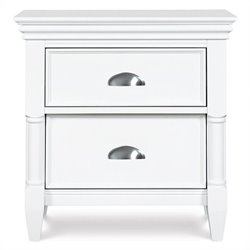 Magnussen Kasey 2 Drawer Nightstand in White