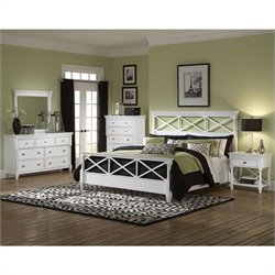Magnussen Kasey Panel Bed in White - California King