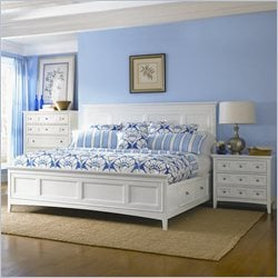 Magnussen Kentwood Panel Bed With Storage 3 Piece Bedroom Set in White