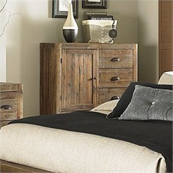 Magnussen River Ridge Wood 5 Drawer Chest in Natural